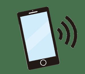 返信の来たスマートフォン