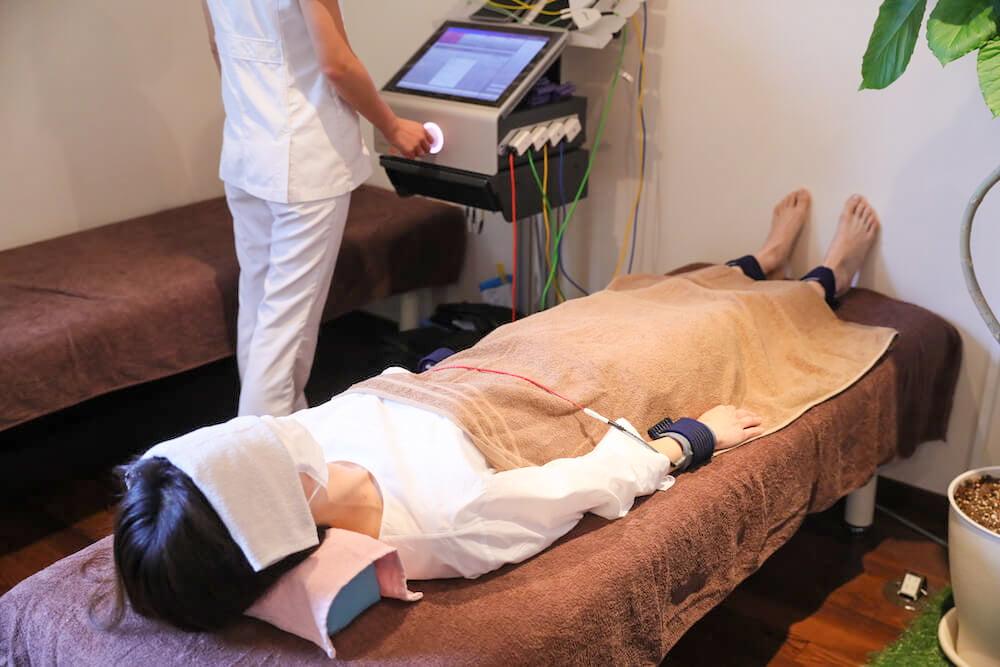 内科・婦人科系の治療の様子